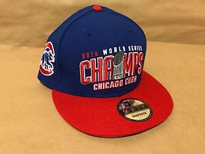 0a8bbb53d64df Custom New Era 9FIFTY Chicago Cubs 2016 World Champs Snapback ...