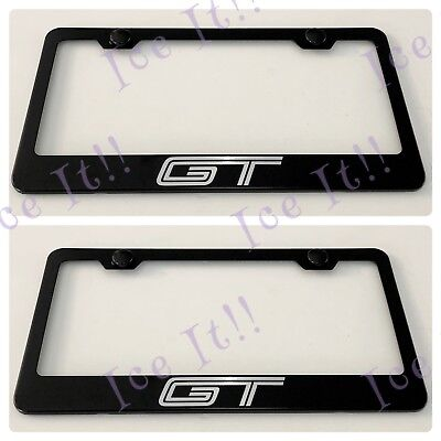 Ford GT Stainless Steel License Plate Frame Rust Free W// Bolt Caps