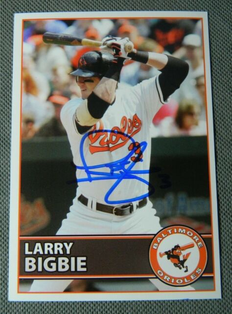 7eb99dffb BALTIMORE ORIOLES Larry Bigbie AUTOGRAPHED SIGNED BASEBALL POSTCARD PHOTO