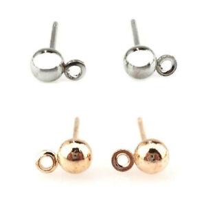 80pcs-40pair-Silver-Gold-Earring-Stud-Diy-Steel-Earrings-Finding-Jewelry-Making