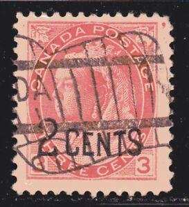 1899 Canada SC# 88-Queen Victoria-Provisional Issue-Lot CU232-Used