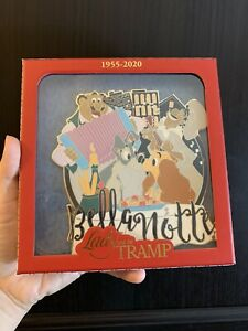 Disney-Lady-And-The-Tramp-034-Bella-Notte-034-Super-JUMBO-Pin-LE-2000
