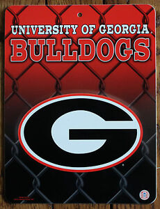 Licensed ncaa plastic sign university of georgia bulldogs for International decor outlet georgia