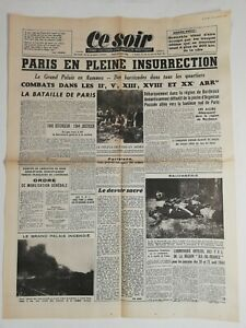 N185-La-Une-Du-Journal-ce-soir-24-aout-1944-Paris-en-pleine-insurrection