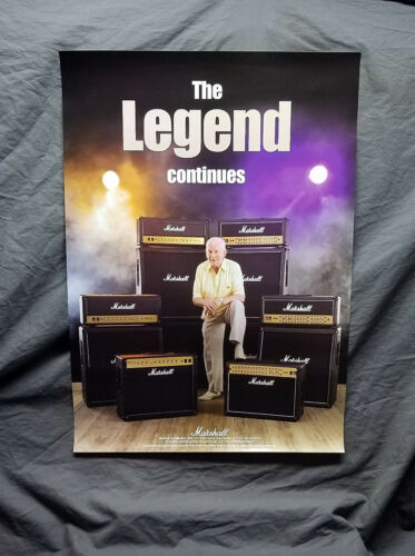 "Jim Marshall /""The Legend Continues/"" Promo Poster/</>Marshall Amplifiers"