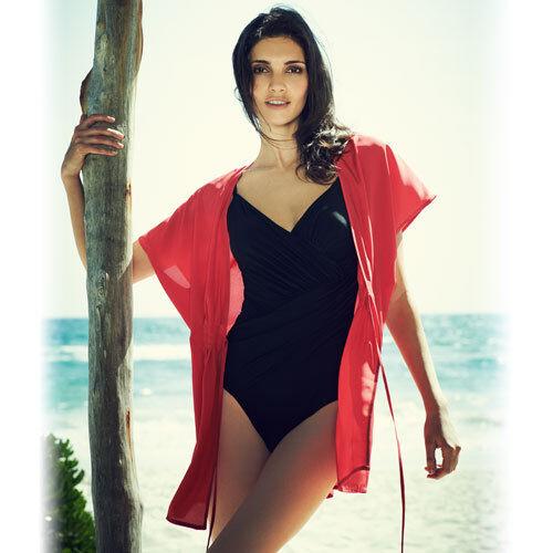Caftano Kimono, Avon Red Spiaggia Coprire ~ Tunica