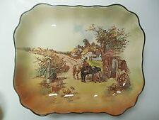 Vintage Royal Doulton D6297 Rustic England Rectangular Dished Serving Platter.