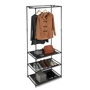 Kleiderstaender-XL-Garderobenstaender-Faltschrank-Schuhregal-Stoffregal-Metall-DIY