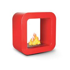 Divina Fire Biocamino a bioetanolo rosso design moderno riscaldamento BRUXELLES