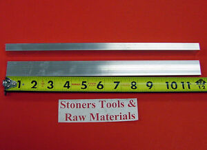 "2 Pieces 3/8"" X 1"" ALUMINUM 6061 FLAT BAR 12"" long .375 Solid Plate Mill Stock"