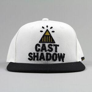 Image is loading Cast-Shadow-Pyramid-Snapback-Cap-White-Unisex-Fashion- aa4c3ea414d