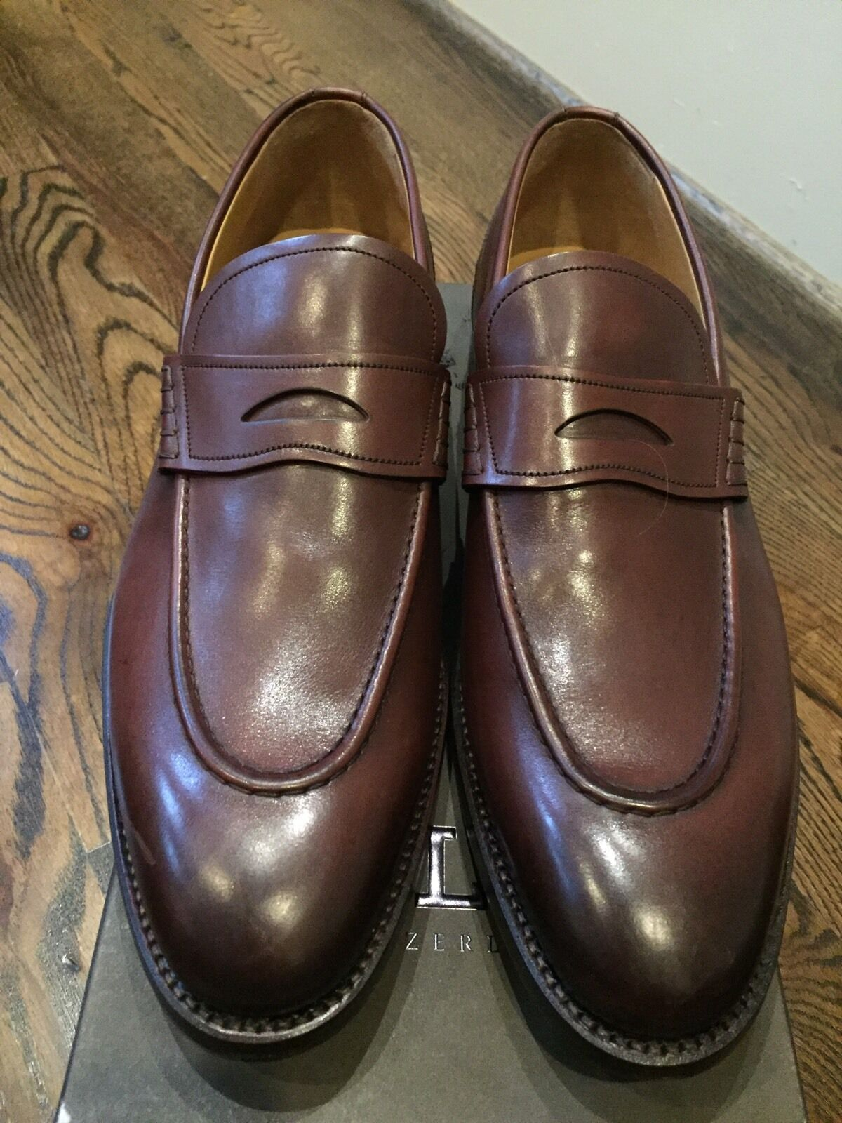 1,000  Bally US Brown Ayer Scribe Goodyear Welted Size US Bally 11.5 Made in Switzerland b227ab