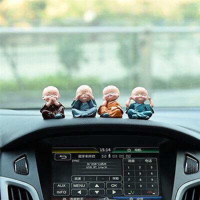 New Fashion Car Decoration Cute Doll 4 Cute Monk Sets Car Interior Accessories