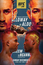 B-611 UFC 214 Cormier vs Jones 2 Fighting Card MMA 18 24x36 27x40 Fabric Poster