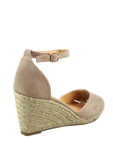 Women/'s Fashion Ankle Buckle Strap Espadrilles Wedge Sandal Shoes All Size New