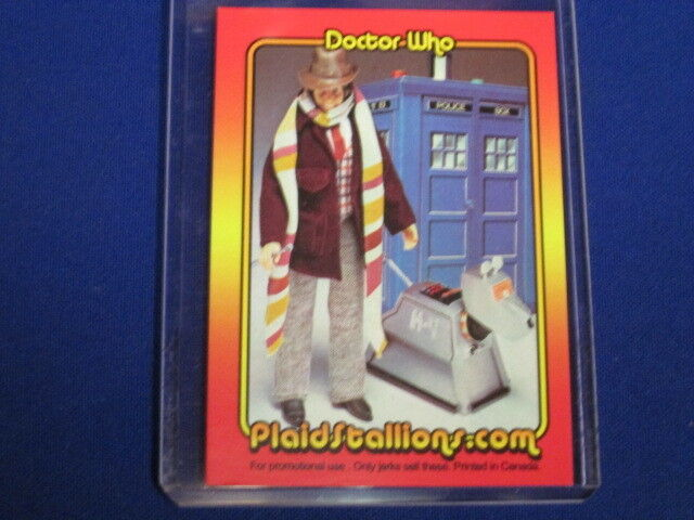 DOCTOR WHO BAKER K9 ROBOT DOG & TARDIS DENYS FISHER FIGURE PROMO TRADING CARD