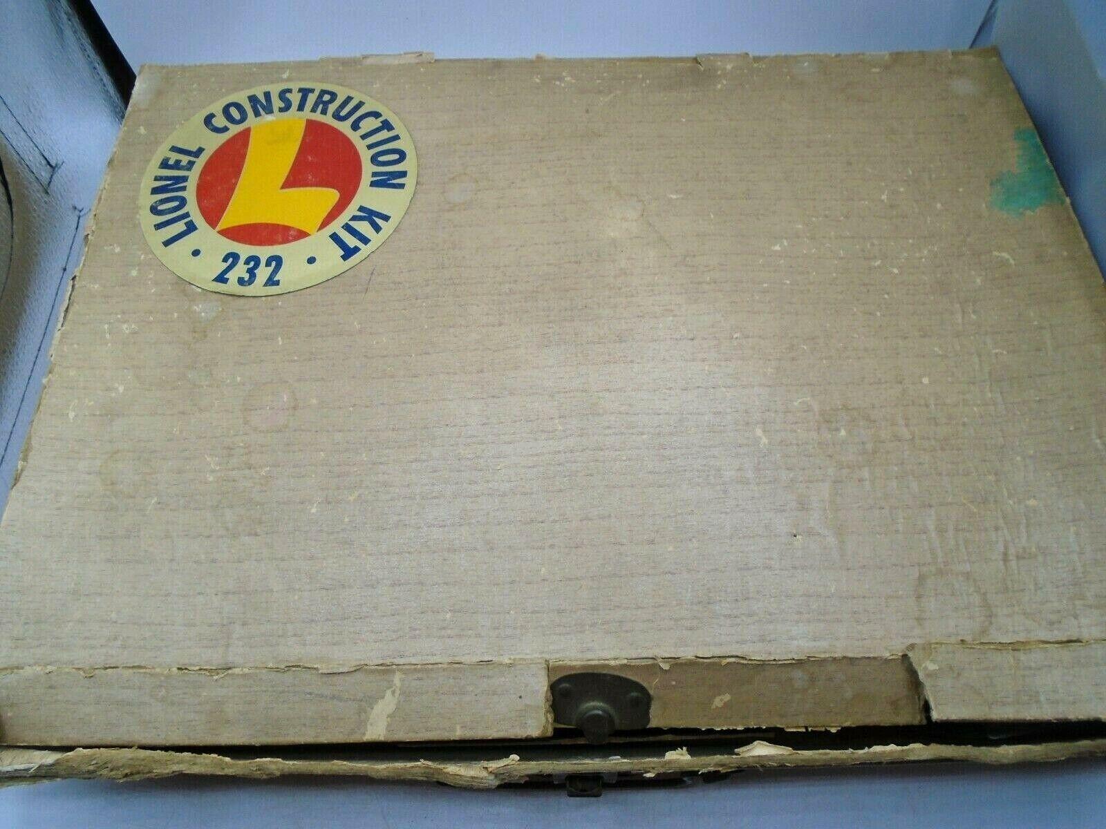 Lionel Construction Set in Original Box Sällsynt årgång With Motor