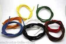 2 METERS 20 AWG VINTAGE CLOTH COVERED WIRE 600V 105°C - WIRE HOOKED FOR TUBE AMP