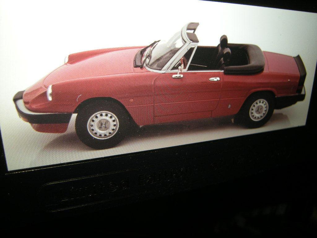 1 18 KK-Model Alfa Romeo Spider 3 Serie1  1983 1986 rot rot  in OVP