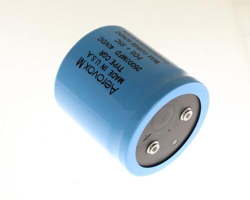 1x 26000uF 40V Large Can Electrolytic Aluminum Capacitor 26000mfd 26,000 40VDC