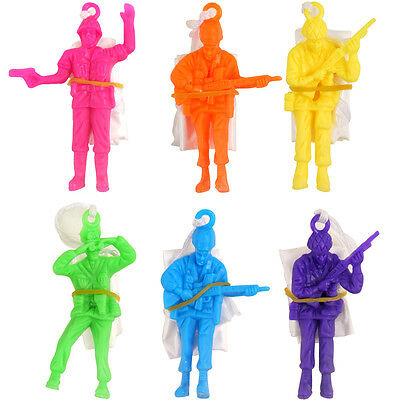 6x PARACHUTE ARMY MEN TOY SOLDIERS BOYS LOOT PINATA BIRTHDAY PARTY BAG FILLERS