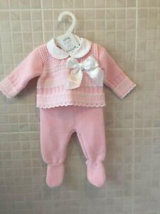 Spanish baby girls pink dress Set 9-12 months Romany