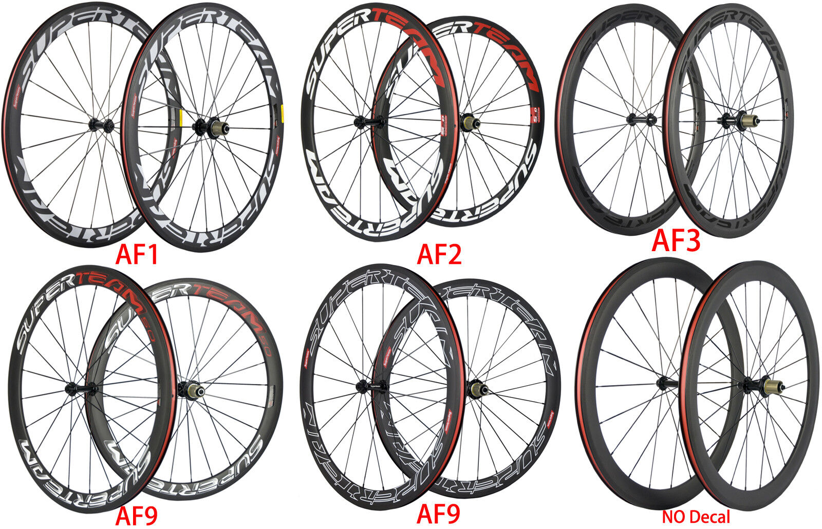 Superteam Carbon Wheels 50mm  Road Bike Carbon Wheelset Shimano 3k Matte 700C  order now lowest prices