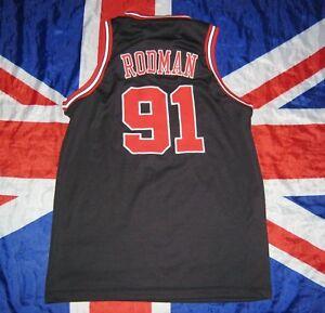 cheap for discount d68e5 afceb Details about USA NBA CHICAGO BULLS BASKETBALL SHIRT JERSEY ADIDAS Dennis  Rodman