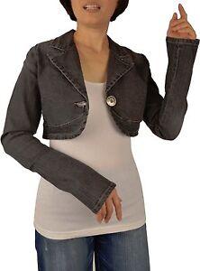 BNWT-Womens-sizes-S-XL-Jean-Denim-Cropped-Stretch-Jacket-With-Button-Closure