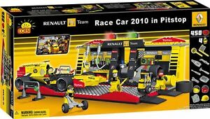 COBI-Renault-2010-Formula-1-Car-amp-Pitstop-450-Piece-Block-Set-NEW