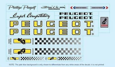 Peugeot PX10/PY10 Bicycle Decals-Transfers-Stickers #4