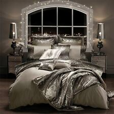 KYLIE MINOGUE MILA PRALINE SEQUIN SATIN KING SIZE COTTON 6 PIECE BEDDING SET