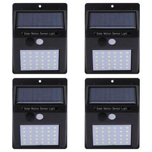 4pc 30 Led Lampe Solaire Projecteur Capteur Detecteur