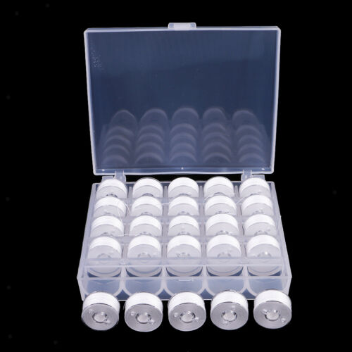 25x Spulen und Nähmaschine Thread Kit mit Etui für Brother Singer White