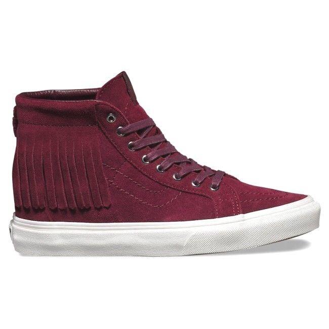 VANS Sk8 Hi Moc (Suede) Port Royale/Blanc Skate Shoes WOMEN'S SIZE 7.5