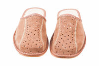 Mens Suede Leather Slippers Mules Brown Size 6 7 8 9 10 11 12 Flip Flop Sandals2
