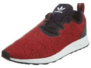 616310047dbd1 Men s adidas zx flux racer asymmetrical casual shoes red s80544 red ...