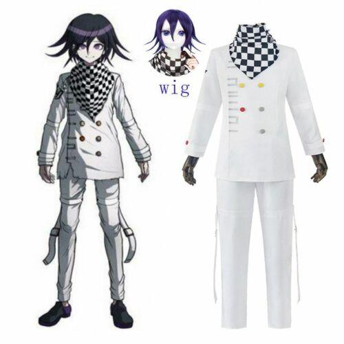 Men Danganronpa Ouma Kokichi Cosplay Costume Outfit Cloak Uniform Suit Halloween
