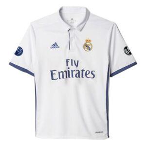 Adidas 2016 2017 Real Madrid UCL Edition Junior Boys Home Football ... 11b082fc4