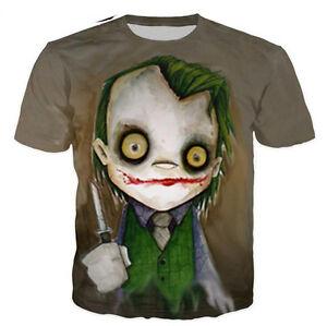 Details About New Fashion Womens Mens Harley Quinn Joker Anime Funny 3d Print T Shirt Us03