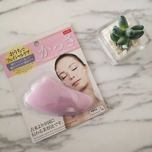 Japan-Daiso-Traditional-Chinese-Face-Massage-Scraper-Facial-Plate-Pink-1pc