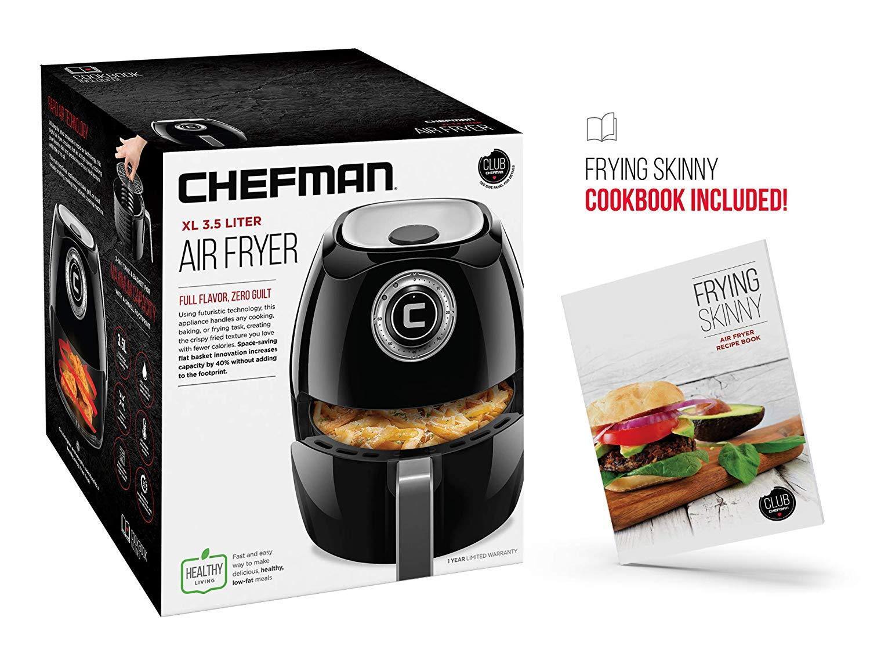 Chefman Large 3.5 Liter   3.6 Quart Air Fryer 60 Minute Timer & Auto Shut Off