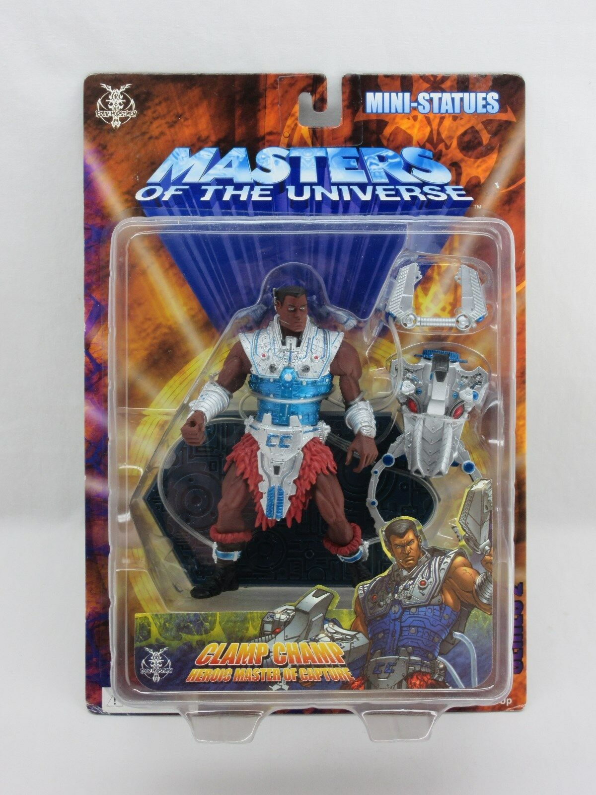 MOTU,CLAMP CHAMP,200x,Neca statue,MISB,Sealed,Masters of the Universe,He man