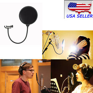 New-Double-Layer-Studio-Microphone-Wind-Screen-Mask-Gooseneck-Shield-Filter