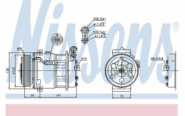 NISSENS Compresseur de climatisation 12V pour OPEL SIGNUM 89124 - Mister Auto