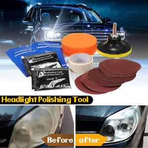 14pcs Set Car Headlight Lens Restoration System Repair Kit Light