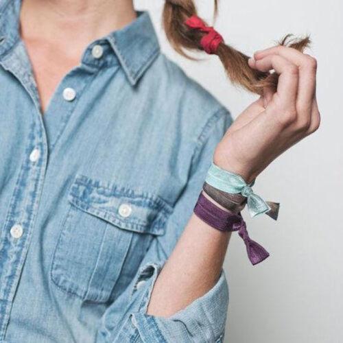 10X Mädchen Elastisches Armband Knoten Gummiband Haargummi Haarband