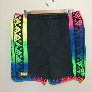 Fiji-Neon-Fluoro-Surfwear-Vintage-90-039-s-Shorts-Mens-Medium