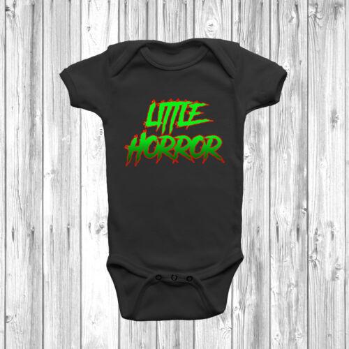 Little Horror Baby Grow Body Suit Vest Gift Funny Present Slogan Halloween