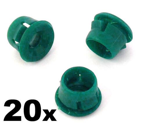 20x BMW Côté Jupe /& Seuil Moulage Clips-En plastique vert Rondelles 51711932996